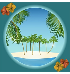Tropical island border vector