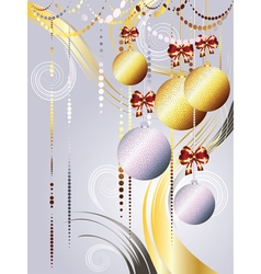 Gold and white xmas balls2 vector