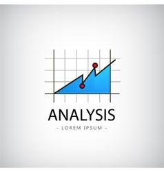 Analysis logo market icon chart vector