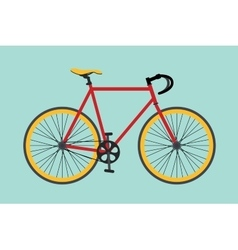 Bike bikes isolated with red and yellow color vector