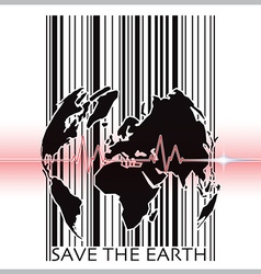Save the earth with barcode scanning ecology vector