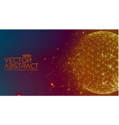 Abstract space colorful background vector