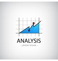 Analysis logo market icon chart vector