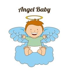 Angel baby vector