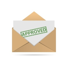 Approved letter vector image