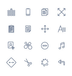 apps icon set over linen vector image