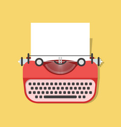 Cartoon vintage typewriter vector
