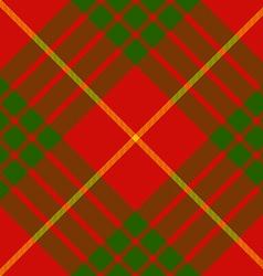 Clan cameron tartan diagonal seamless pattern vector