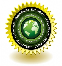 earth eco icon vector image vector image