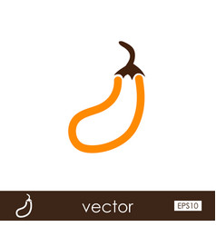 Eggplant outline icon vegetable vector
