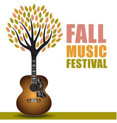 Fall music festival art vector