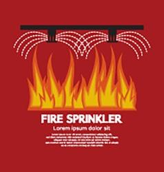 Fire sprinkler life safety vector