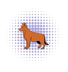 German Shepherd dog icon comics style vector image vector image