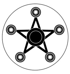 hand spinner in the form of a star vector image vector image