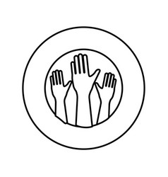 human hand up symbol vector image