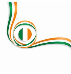 Irish wavy flag background vector
