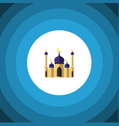 Isolated building flat icon mosque element vector