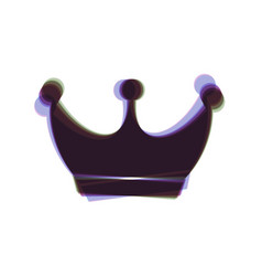 King crown sign colorful icon shaked with vector