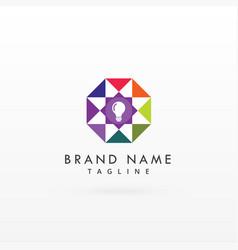 logo design concept for light bulb vector image vector image