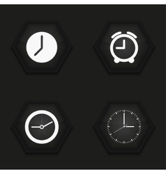 modern clock icons set vector image vector image