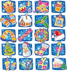 new year and christmas set vector image vector image