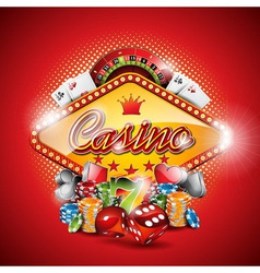 on a casino theme with design element vector image