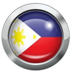 Philippine flag metal button vector