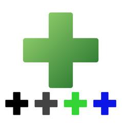 Plus flat gradient icon vector