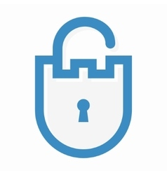 Privacy lock logo vector