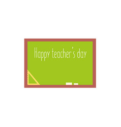 school board with happy teacher day greeting text vector image
