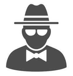 Secret agent icon vector