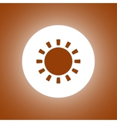 Sun Icon Flat design style eps 10 vector image