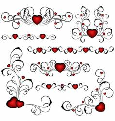 Valentine's design vector image vector image