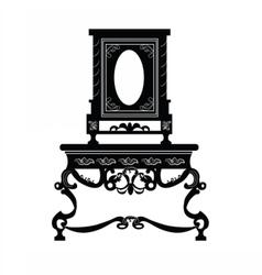 Vintage baroque luxury furniture vector