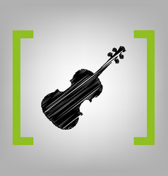violine sign black scribble vector image