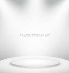 white studio background with podium vector image