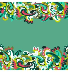 Colorful seamless paisley background vector image