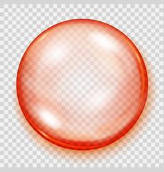 Transparent orange sphere with shadow vector