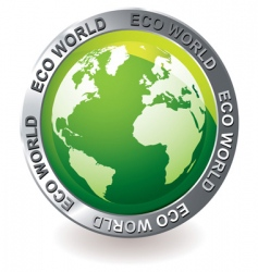 green icon eco earth globe vector image