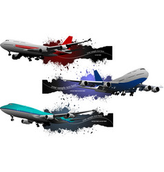 Three banners of plane vector