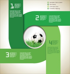 Modern soccer background vector