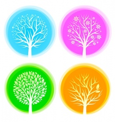 Seasons trees vector