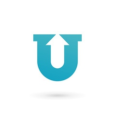 Letter U logo icon design template elements vector image