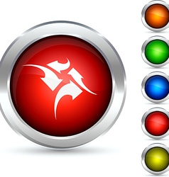 Traffic button vector
