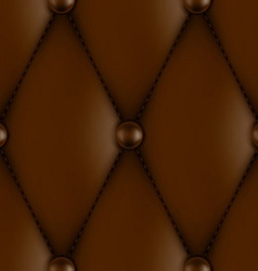 Luxury leather upholstery vector