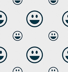 Funny face icon sign seamless pattern with vector