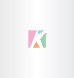 Square letter k logo k icon design vector