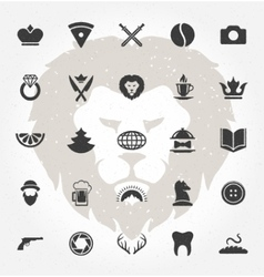Retro hand drawn objects and icons design vector