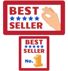 Two bestseller signs vector