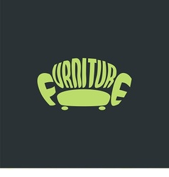 Logo armchair vector